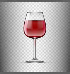 big reds wine empty glass with wine vector image