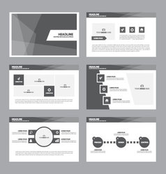Black presentation templates Infographic elements vector