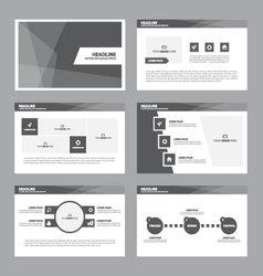 Black presentation templates infographic elements vector
