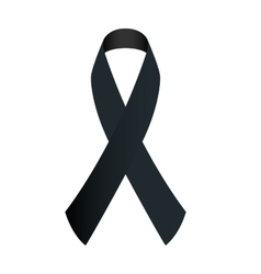 black ribbon vector image