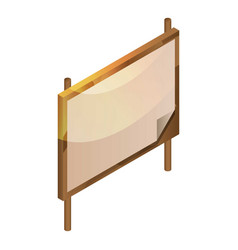 blank wood board icon isometric style vector image