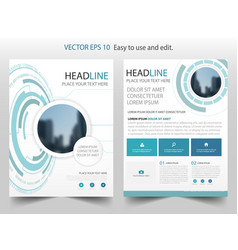 Blue abstract technology brochure annual report vector