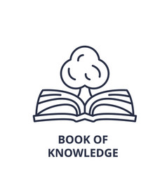 book of knowledge line icon concept book of vector image