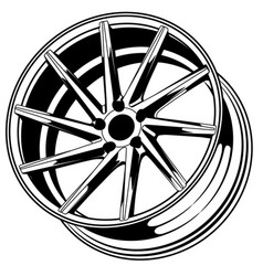 car wheel 12 vector image