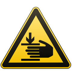 caution hands may be injured attention is vector image