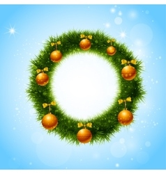 Christmas wreath christmas decoration vector image