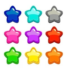 Colorful star icons vector image