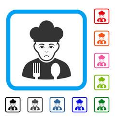cook framed dolor icon vector image
