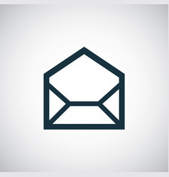 e-mail icon trendy simple concept symbol design vector image