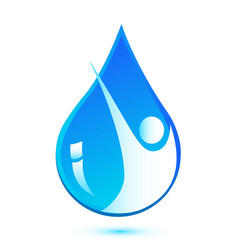 environmental water rain drop icon vector image