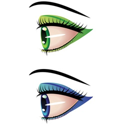 Eyes in profile vector image