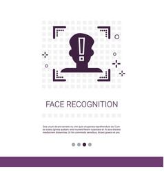 Face scan system recognition biometric vector