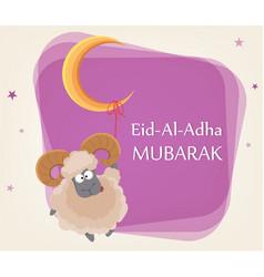 Festival of sacrifice eid al-adha vector