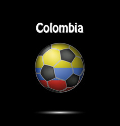 flag of colombia in the form of a soccer ball vector image