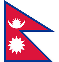 Flag of nepal vector