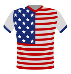 flag t-shirt of united states vector image