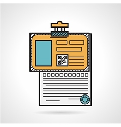 Flat icon for patient paper vector image