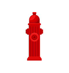 Flat icon of red fire hydrant metal water vector