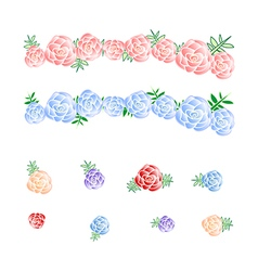 Flower Crown Rose Headband vector