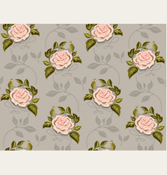 flower pattern of roses in a vector image