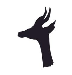 gazelle portrait silhouette vector image