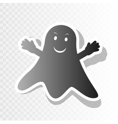 ghost isolated sign new year blackish vector image