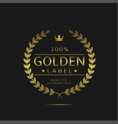 Golden label sign vector