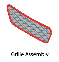 Grille assembly icon isometric style vector