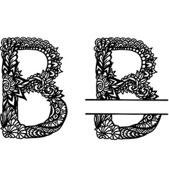 Hand drawn letter b vector