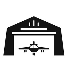 Hangar shed icon simple style vector