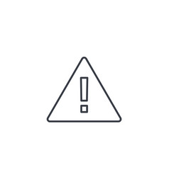 hazard warning attention thin line icon linear vector image