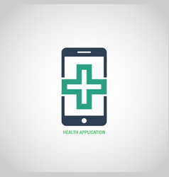 Health application logo icon design vector