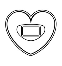 heart shaped scale balance digital icon vector image
