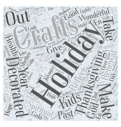 holiday crafts Word Cloud Concept vector image