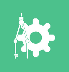 Icon on gear and tool vector