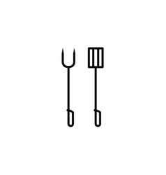 isolated barbecue equipment icon prepare vector image