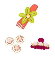 Isolated object barrette and hair logo vector