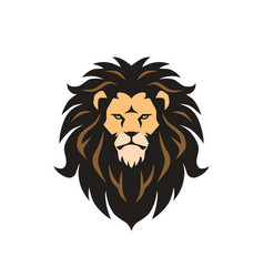 lion head mascot logo design vector image