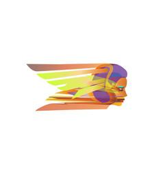 logo business women flight abstract creative biz vector image