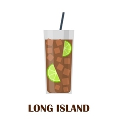 Long island cocktail vector