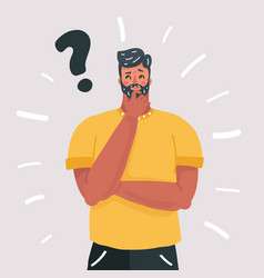 man thinking question doubt expression vector image