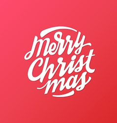 Merry Christmas hand written lettering circle vector