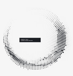 minimal halftone circular frame background vector image