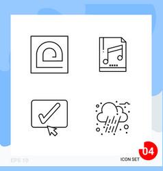 modern pack 4 icons line outline symbols vector image