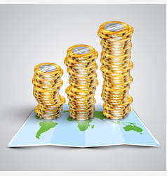 money on map vector image