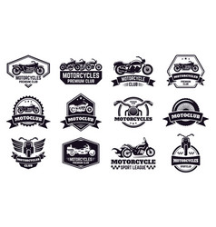 motorbike badges retro motorcycle bike club vector image