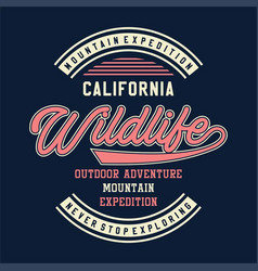 Mountain expedition california vector