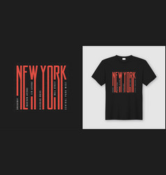 new york streets stylish t-shirt and apparel vector image