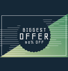 Offers and discount banner design for your vector