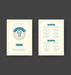 Oktoberfest menu vintage typography template with vector